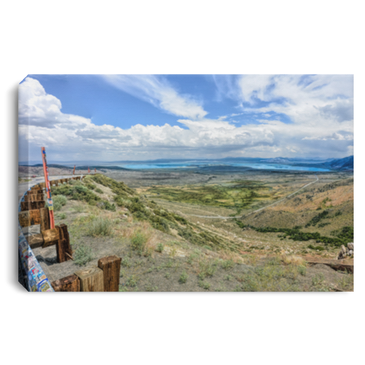 Canvas Print Mono Lake Vista Point White / 12 x 8 Canvas Print