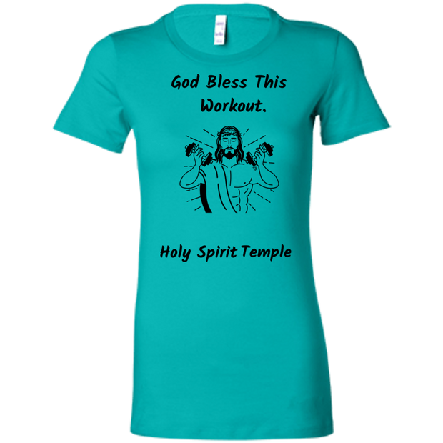 6004 Bella + Canvas Ladies Favorite T-Shirt Bless This Workout 12 Colors/5 sizes T-Shirts