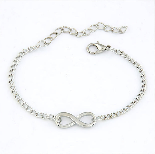 Infinity Charm Bracelet in Gold or Silver Color Free Shipping !