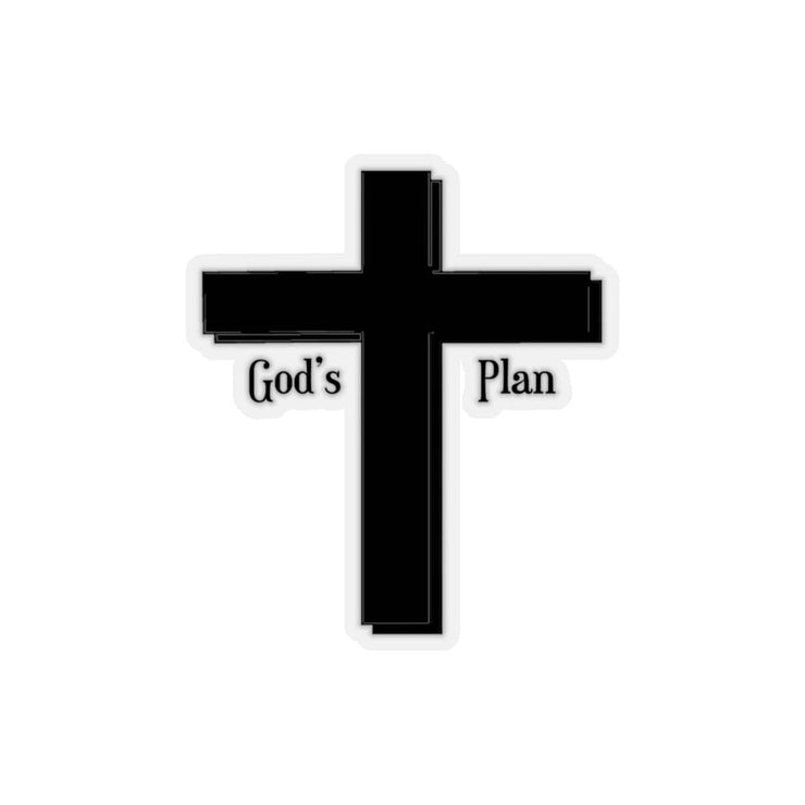"Kiss-Cut Stickers ""God's Plan"" Transparent or White Background in 4 Sizes"