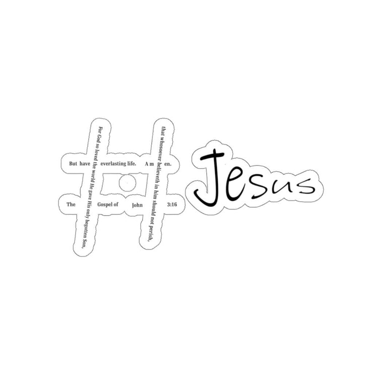 "Kiss-Cut Stickers ""Hashtag Jesus"" in 4 Sizes Free Shipping (4445002104926)"