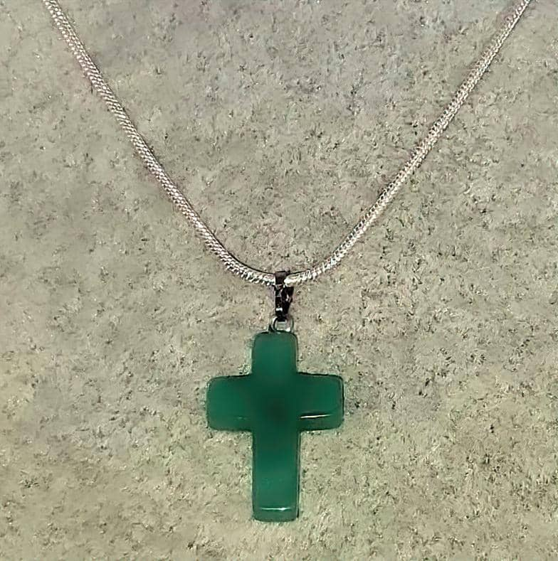 Aventurine Quartz Gemstone Necklace (4580121444446)
