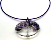 Amethyst Gemstone Tree of Life Necklace Free Shipping! (4420394811486)