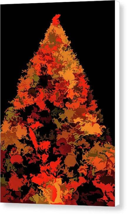 Canvas -Print Autumn Christmas Tree