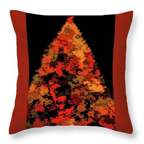 Autumn Christmas Tree - Throw Pillow