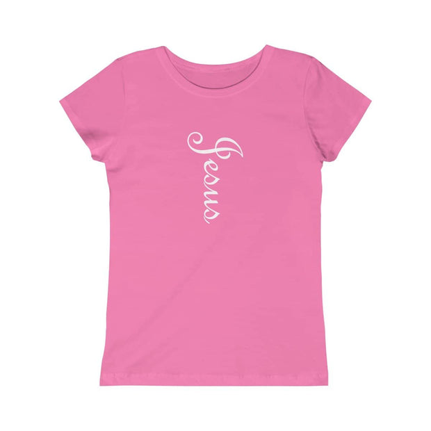 "Girls Princess Tee ""Jesus"" in 5 Colors and 5 Sizes"