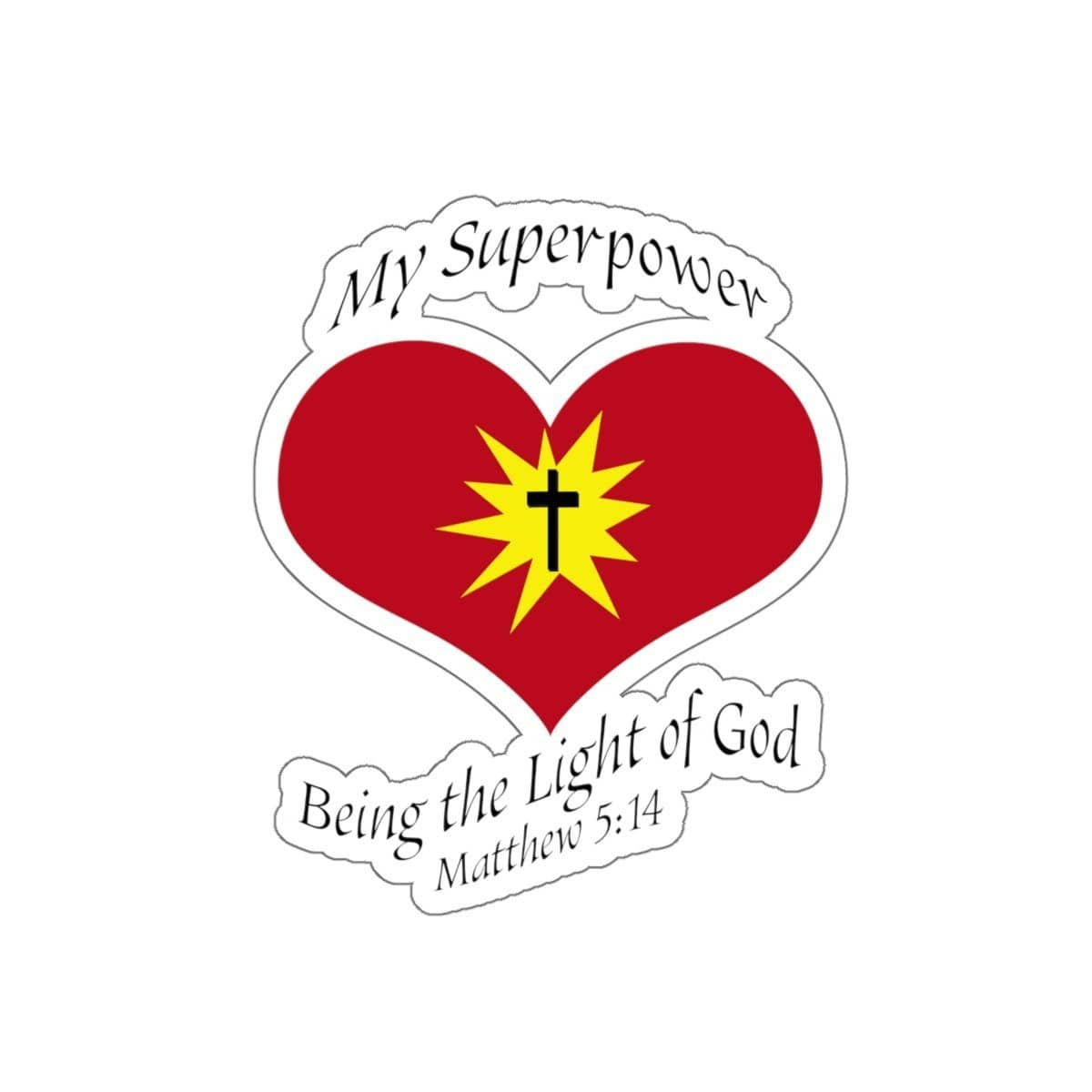 "Kiss-Cut Stickers ""Superpower"" in White or Transparent (3506855182436)"