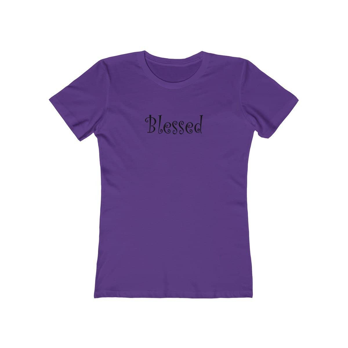 "Next Level The Boyfriend Tee Black Graphic ""Blessed"" in 15 Colors and 7 Sizes (3474270978148)"