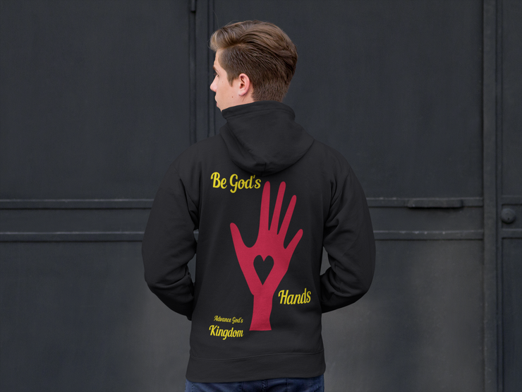 "Heavy Blend™ Full Zip Hooded Sweatshirt ""Be God's Hands"" in 9 colors and 8 Sizes"