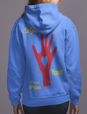 "French Terry Hoodie ""Be God's Hands"" in 8 Colors and 7 Sizes"