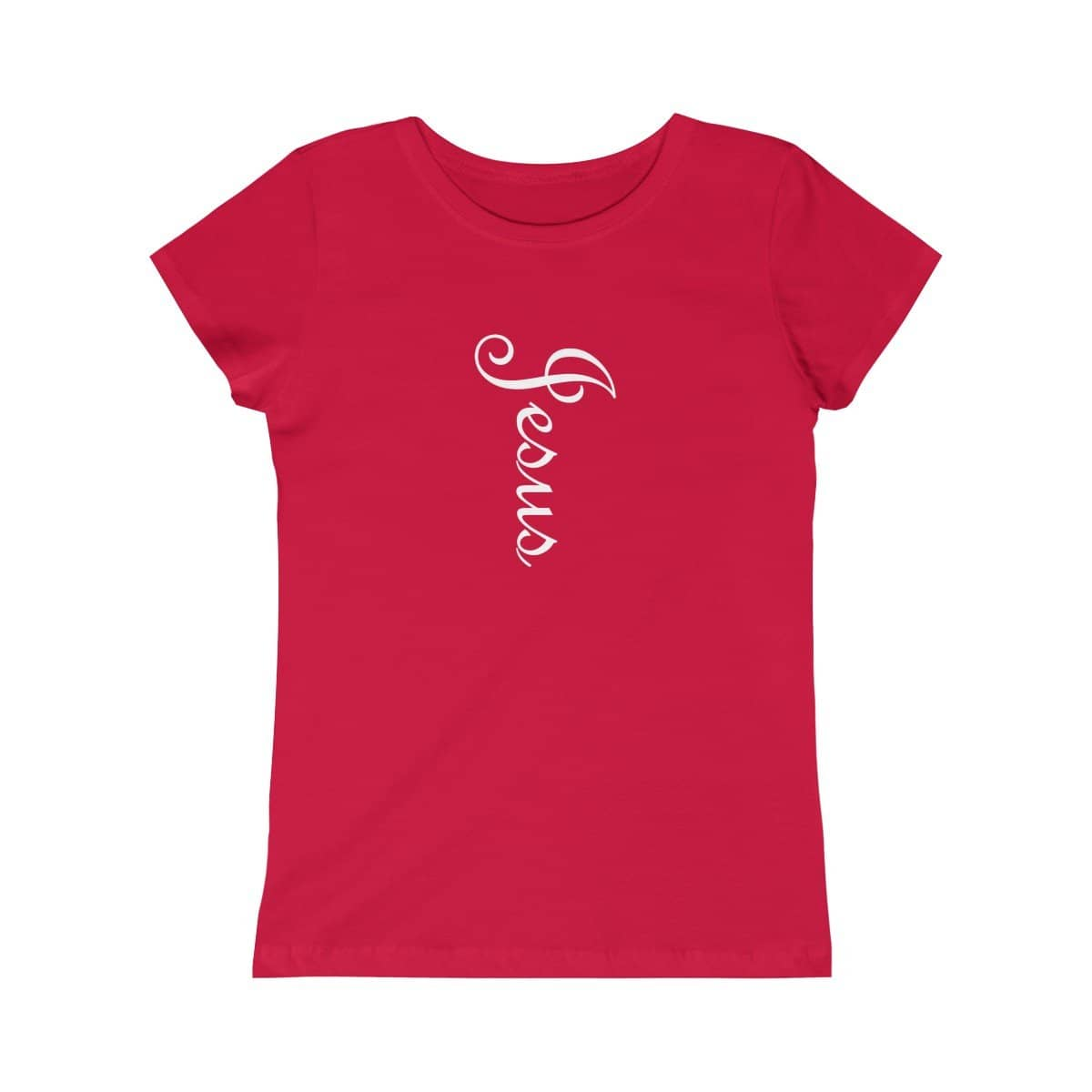 "Girls Princess Tee ""Jesus"" in 5 Colors and 5 Sizes (4334978728030)"