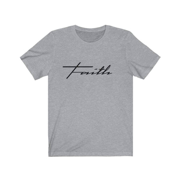 Bella & Canvas 3001 T-Shirt Faith in 14 colors and 7 sizes Athletic Heather / XS T-Shirt (3327699746916)