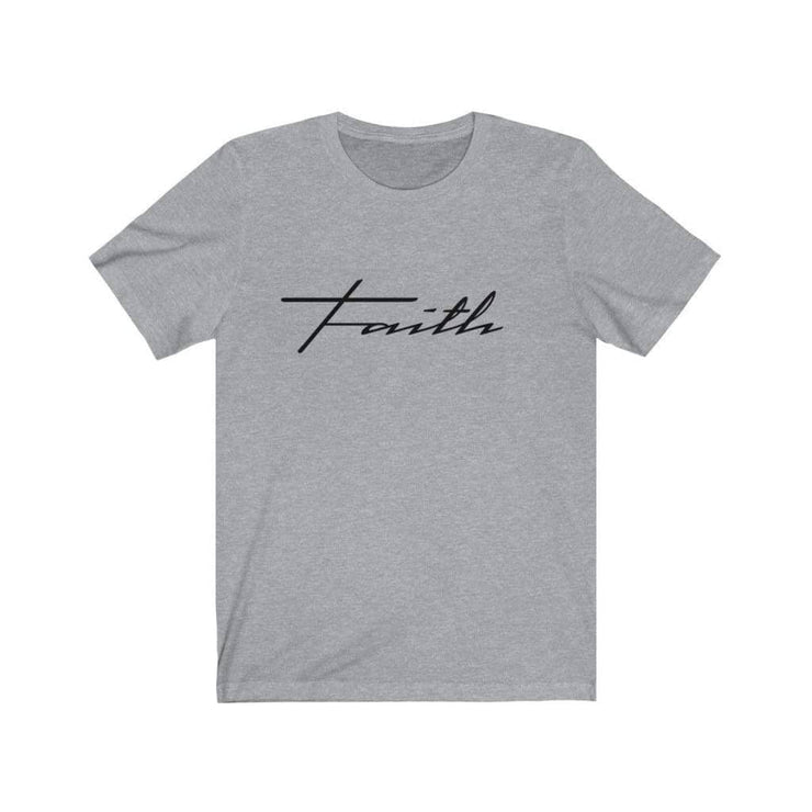 Bella & Canvas 3001 T-Shirt Faith in 14 colors and 7 sizes Athletic Heather / XS T-Shirt