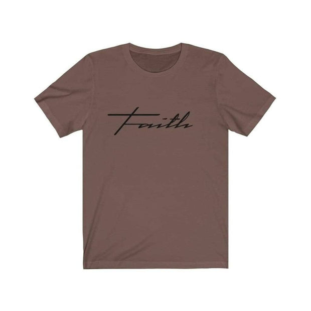 Bella & Canvas 3001 T-Shirt Faith in 14 colors and 7 sizes Brown / XS T-Shirt