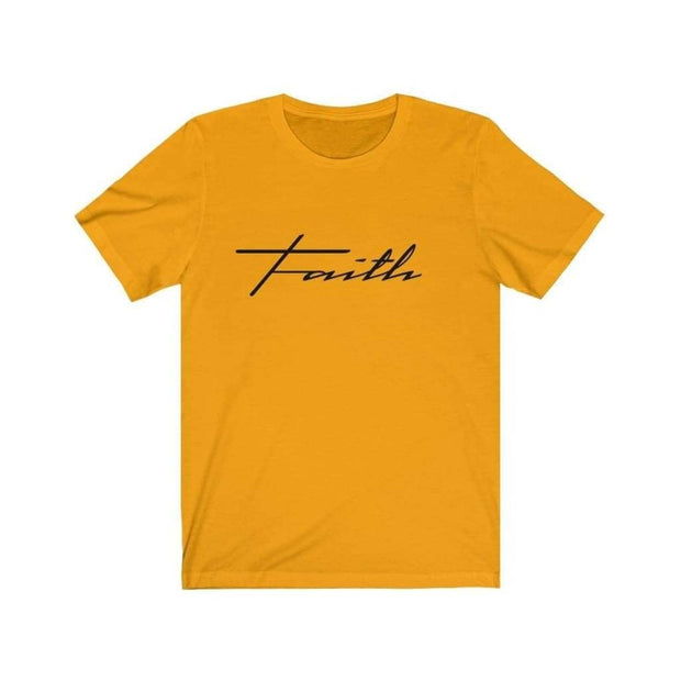 Bella & Canvas 3001 T-Shirt Faith in 14 colors and 7 sizes Gold / XS T-Shirt