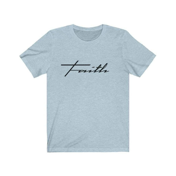 Bella & Canvas 3001 T-Shirt Faith in 14 colors and 7 sizes Heather Ice Blue / XS T-Shirt (3327699746916)