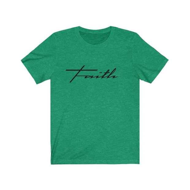 Bella & Canvas 3001 T-Shirt Faith in 14 colors and 7 sizes Heather Kelly / XS T-Shirt