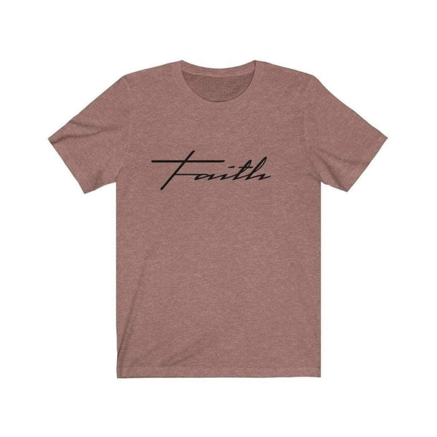 Bella & Canvas 3001 T-Shirt Faith in 14 colors and 7 sizes Heather Mauve / XS T-Shirt