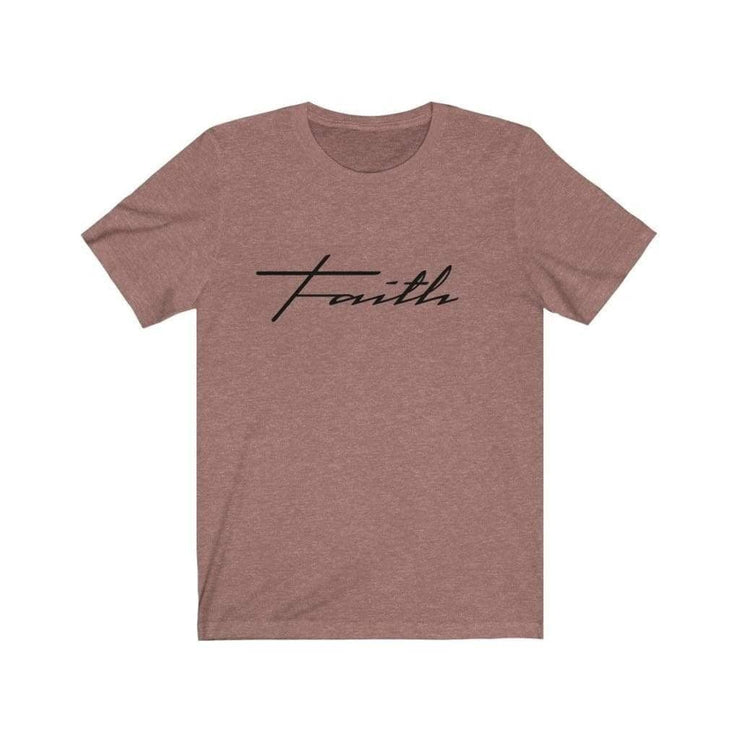 Bella & Canvas 3001 T-Shirt Faith in 14 colors and 7 sizes Heather Mauve / XS T-Shirt (3327699746916)