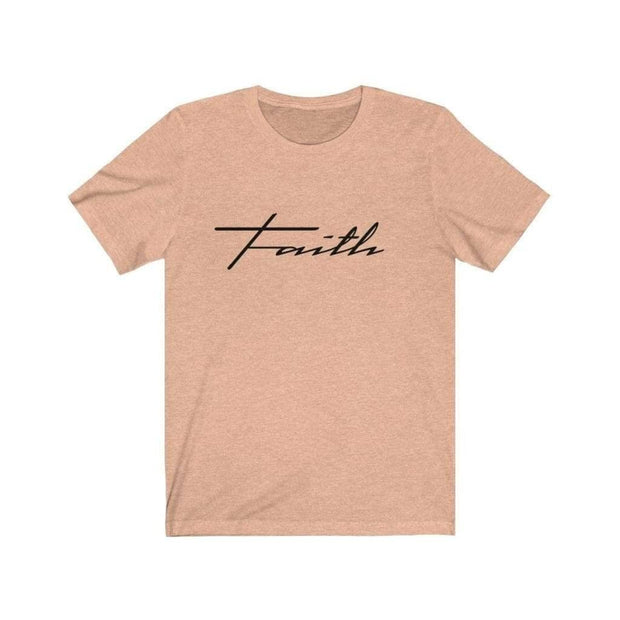 Bella & Canvas 3001 T-Shirt Faith in 14 colors and 7 sizes Heather Peach / XS T-Shirt