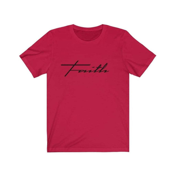 Bella & Canvas 3001 T-Shirt Faith in 14 colors and 7 sizes Red / XS T-Shirt