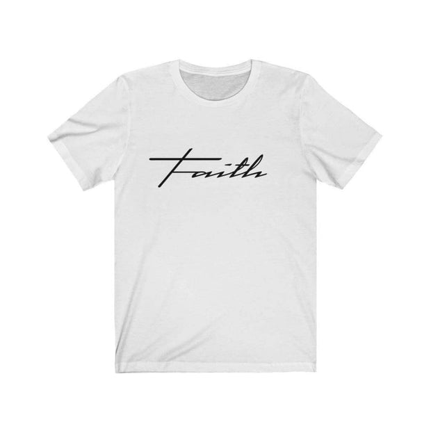 Bella & Canvas 3001 T-Shirt Faith in 14 colors and 7 sizes White / L T-Shirt (3327699746916)