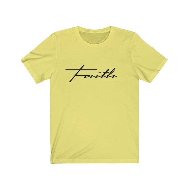 Bella & Canvas 3001 T-Shirt Faith in 14 colors and 7 sizes Yellow / XS T-Shirt