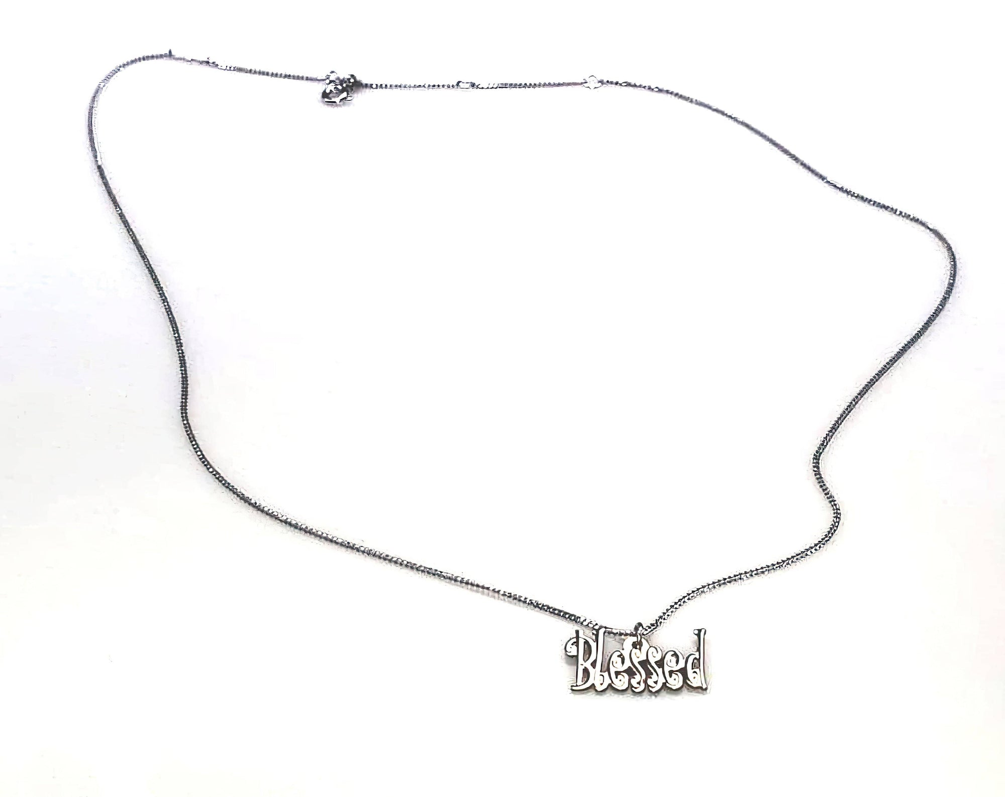 "Stainless Steel ""Blessed"" Necklace (4543225036894)"