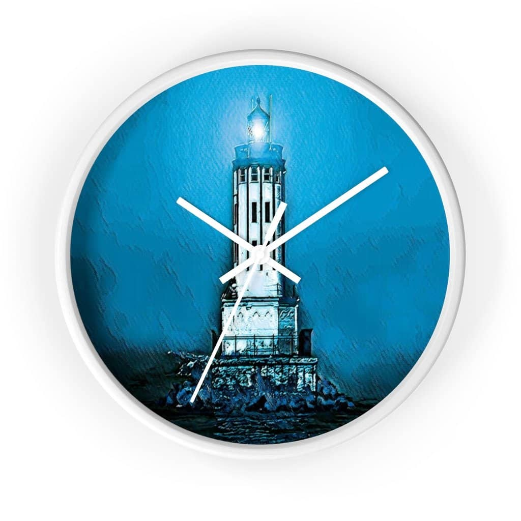 Wall clock Angels Gate Lighthouse (3083148034148)