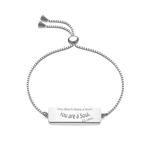 "Box Chain Jaylon Bracelet ""You are a soul"""