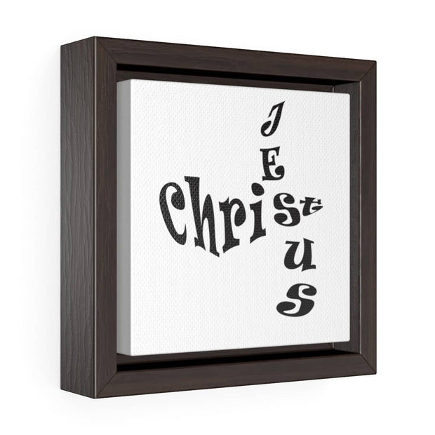 "Square Framed Premium Gallery Wrap Canvas ""Jesus Christ"" in 2 sizes"