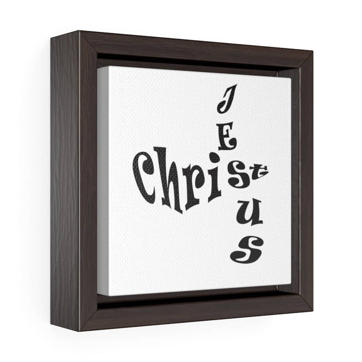 "Square Framed Premium Gallery Wrap Canvas ""Jesus Christ"""