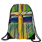 The Cross Bag in 5 Colors Free Shipping! Drawstring Bag (2590314037348)
