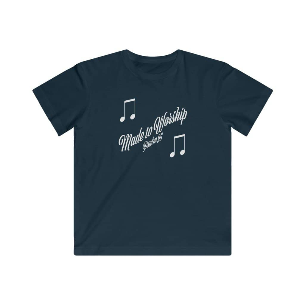 "Kids LAT Apparel Tee ""Made to Worship"" (4366810284126)"
