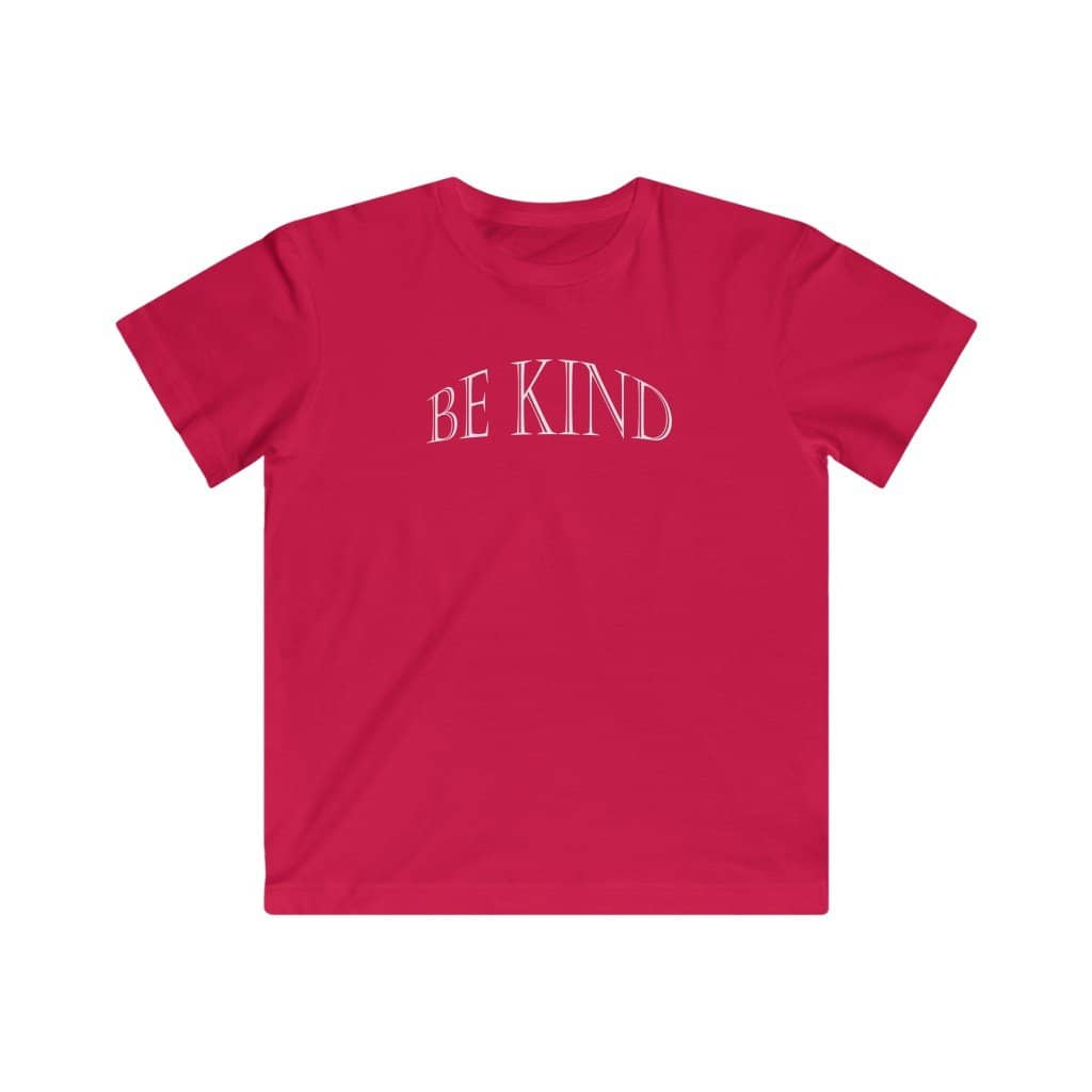 "Kids LAT Apparel Tee ""Be Kind"" white font (4511447154782)"
