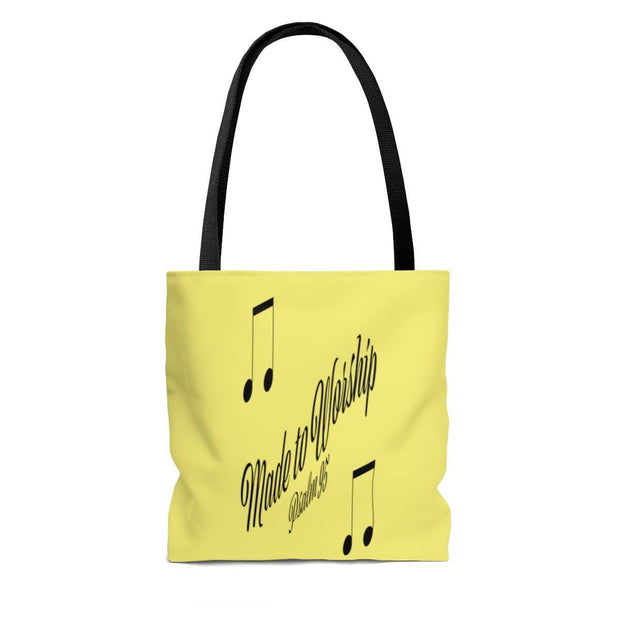 "AOP Tote Bag ""Made to Worship"" in 3 Sizes (3509995339876)"