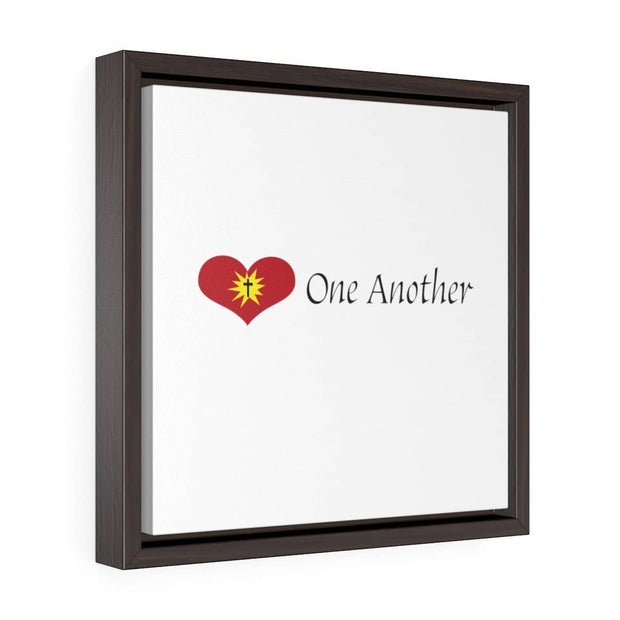 "Square Framed Premium Gallery Wrap Canvas ""Love One Another"" Free Shipping"