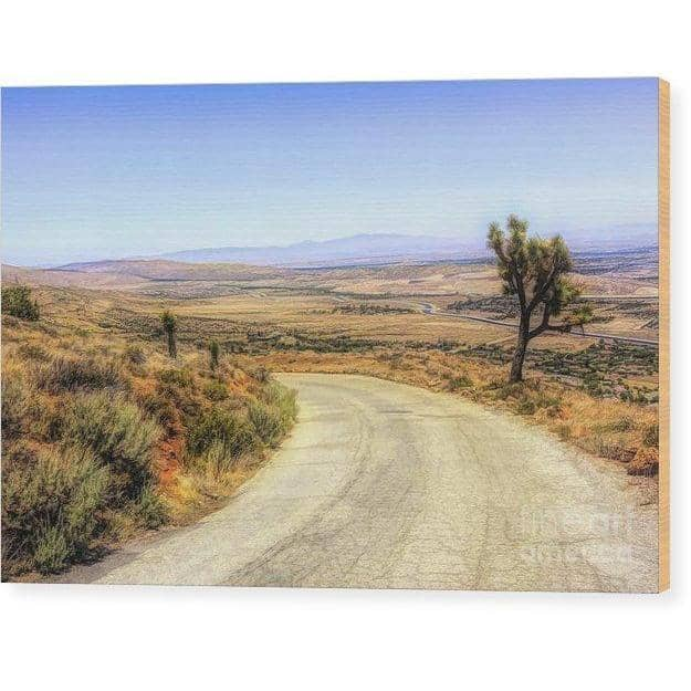 Wood Print Downhill Desert Road 10.000 x 6.625 Wood Print (2312732737636)
