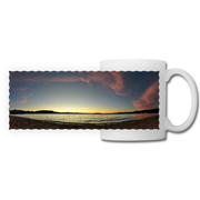 Panoramic Mug Lake Sunset 11fl.oz Ceramic white / One Size Panoramic Mug (2486795436132)