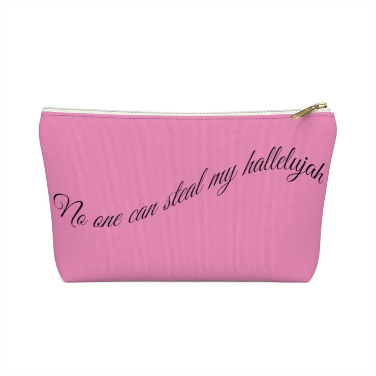 "Accessory Pouch w T-bottom ""No One Can Steal My Hallelujah"" in 2 Sizes (3958407495774)"