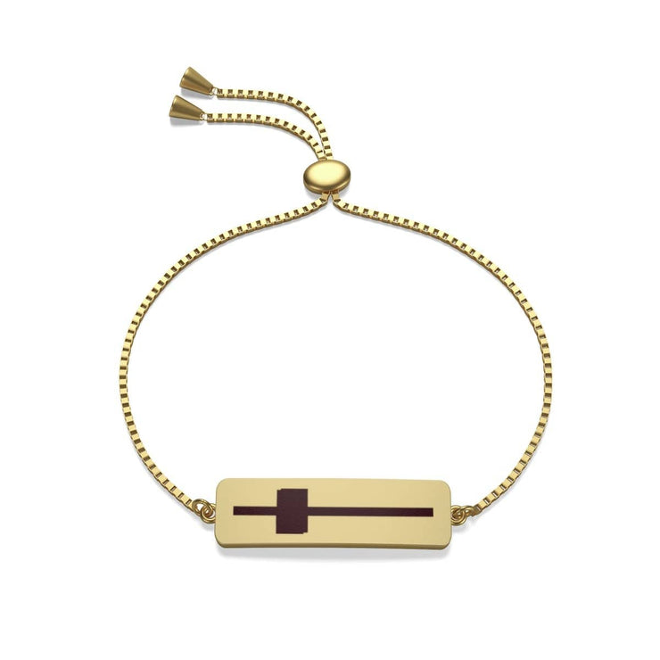 Box Chain Bracelet Gold Plated Cross