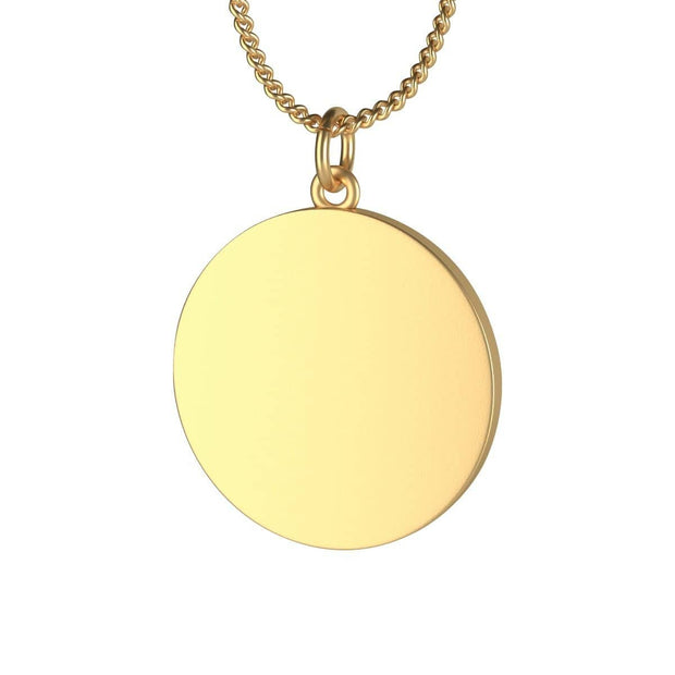 Single Loop Necklace 18K gold Plated Indigo Coin or Lotus Coin in 2 Lengths