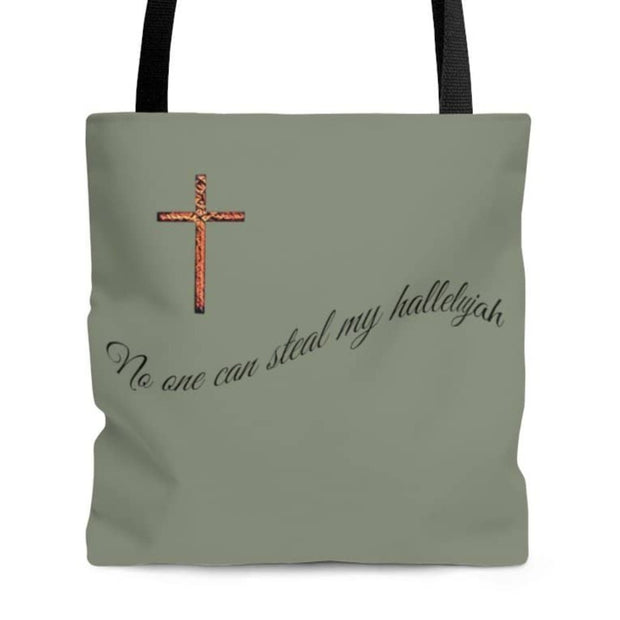 "AOP Tote Bag ""No one can Steal my Hallelujah"" in 3 Sizes"
