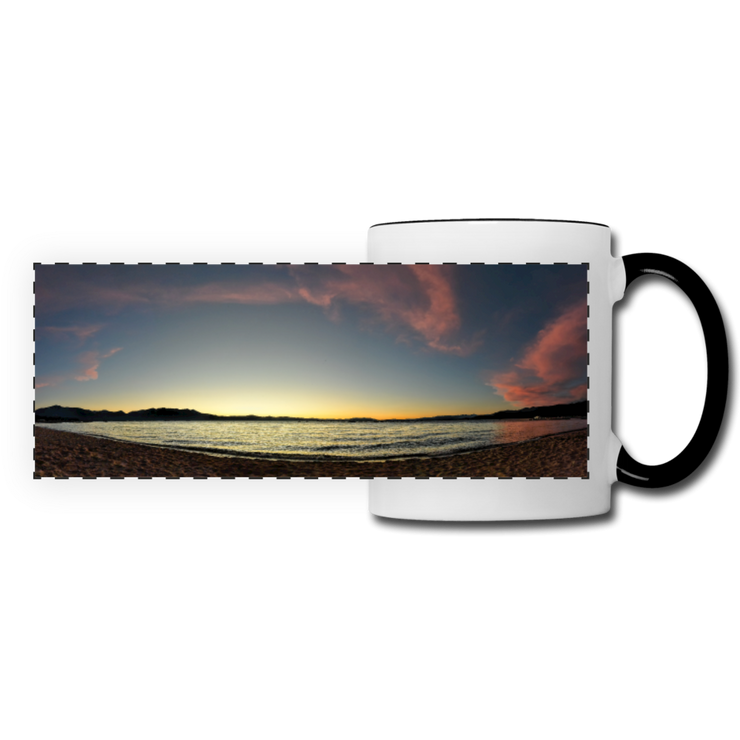Panoramic Mug Lake Sunset 11fl.oz Ceramic Panoramic Mug (2486795436132)