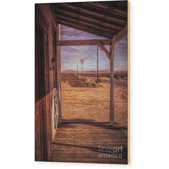 Wood Print Front Porch 6.625 x 10.000 Wood Print