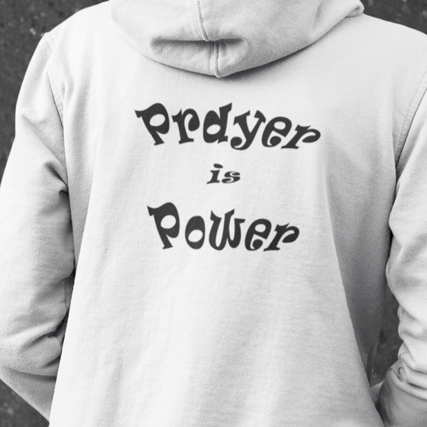 "Heavy Blend™ Full Zip Hooded Sweatshirt ""Prayer is Power"" in 11 Colors and 8 Sizes"