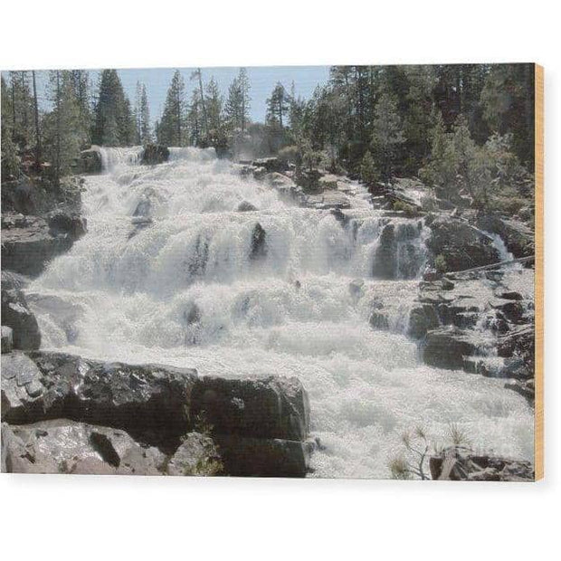 Wood Print Glen Alpine Falls White Water 10.000 x 6.625 Wood Print