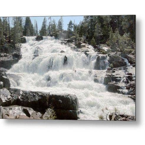 Metal Print Glen Alpine Falls White Water 10.000 x 6.625 Metal Print