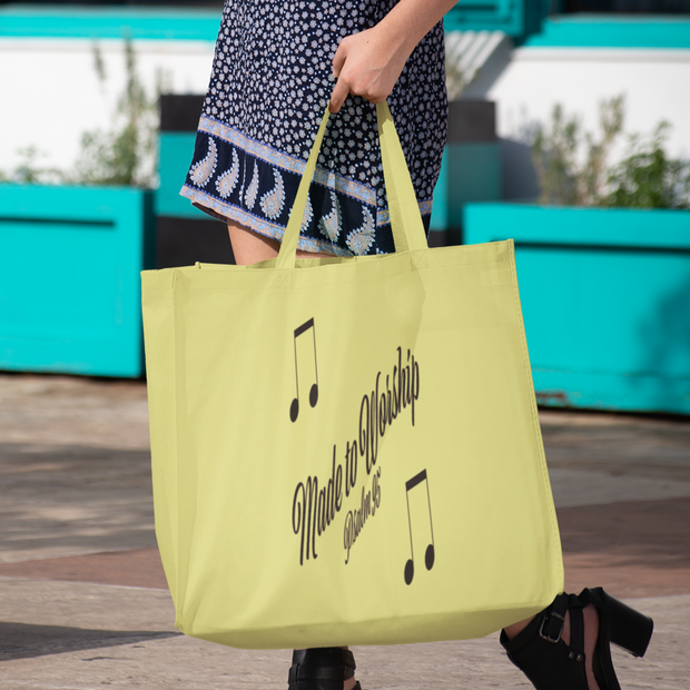 "AOP Tote Bag ""Made to Worship"" in 3 Sizes"