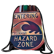 Tsunami Hazard Zone Drawstring Bag (6 colors) Free Shipping! POD (1931969265764)